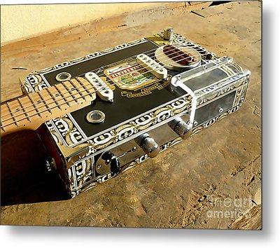 Cigar Box Guitar Metal Print