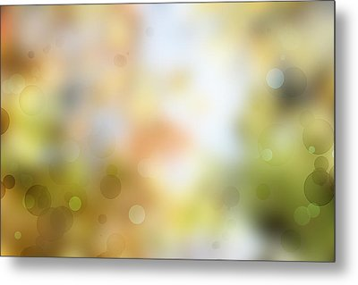 Circles Background Metal Print by Les Cunliffe