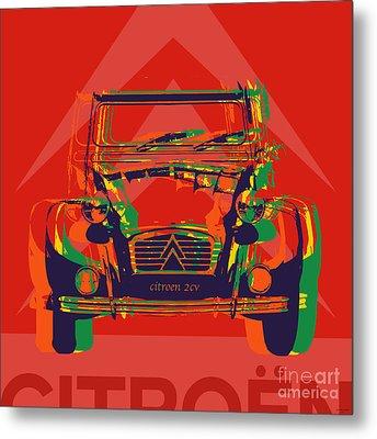 Citroen 2cv Metal Print by Jean luc Comperat