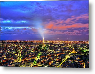 City Of Lights Metal Print by Midori Chan