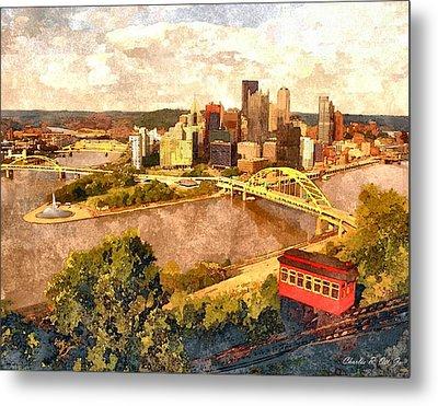 City Of Pittsburgh Metal Print by Charles Ott