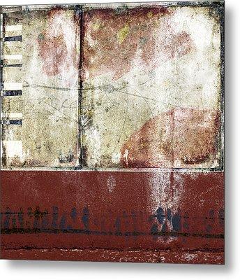 City Sidewalks Metal Print