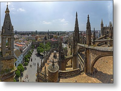 City View From A Cathedral Roof Metal Print by Panoramic Images