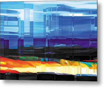 City Within Metal Print by The Art of Marsha Charlebois