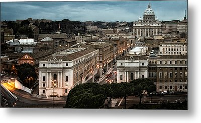 Cityscape In Rome Metal Print by Celso Diniz