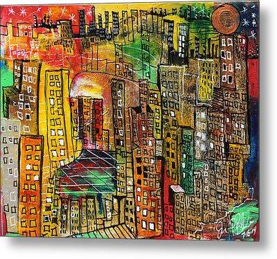 Cityscape  Metal Print by Jon Baldwin  Art