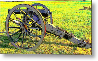 Civil War Canon By Earl's Photography Metal Print by Earl  Eells a