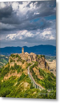 Civita Di Bagnoregio Metal Print by JR Photography