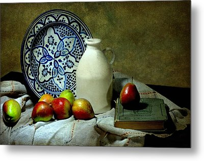 Classic Blue Metal Print by Diana Angstadt