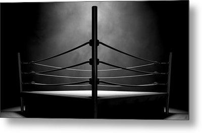 Classic Vintage Boxing Ring Metal Print