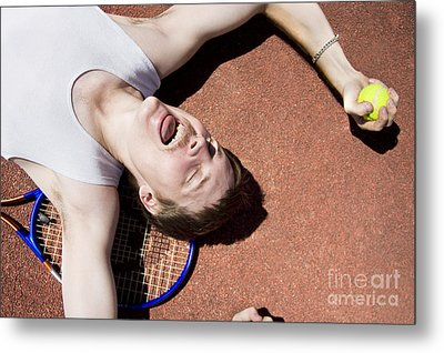 Clay Court Champion Metal Print by Jorgo Photography - Wall Art Gallery