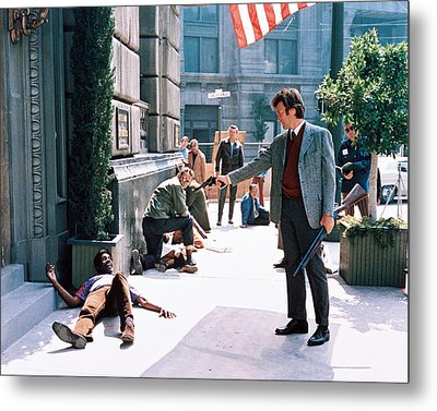 Clint Eastwood In Dirty Harry  Metal Print by Silver Screen