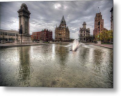 Clinton Square Metal Print by John Hoey