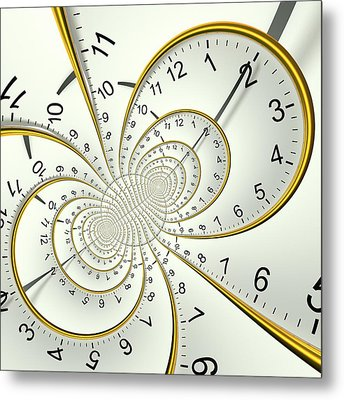 Clockface Spacetime Warp Metal Print