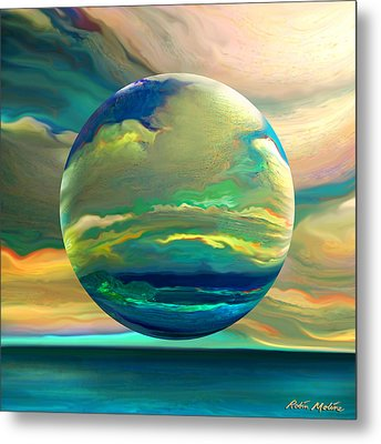 Clouding The Poets Eye Metal Print by Robin Moline