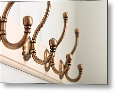 Coat Hooks Metal Print by Tom Gowanlock