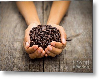 Coffee Beans Metal Print by Aged Pixel