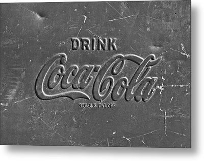 Coke Sign Metal Print by Jill Reger