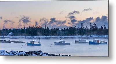 Cold Day In Maine  Metal Print