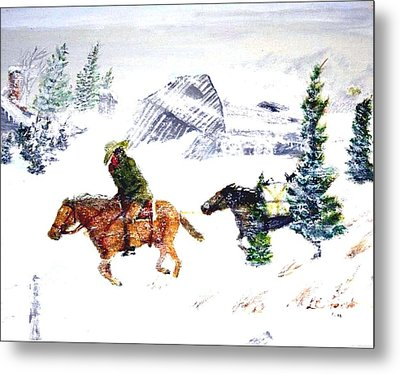 Cold Wind. Metal Print by Larry Lamb