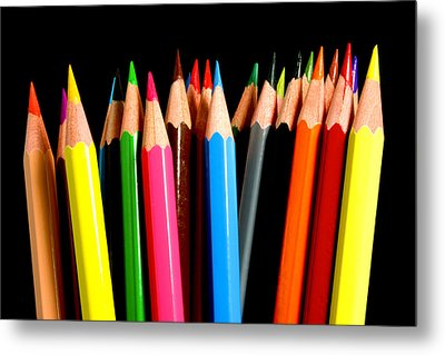 Colored Pencils Metal Print by Michael Tompsett