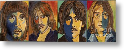 Metal Print featuring the painting Colorful Beatles by Jeanne Forsythe