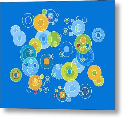 Colorful Circles Metal Print by Frank Tschakert