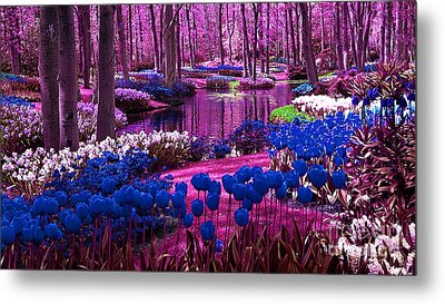 Colorful Flower Garden Metal Print by Marvin Blaine