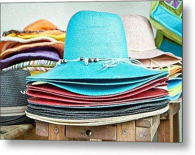Colorful Hats Metal Print by Tom Gowanlock