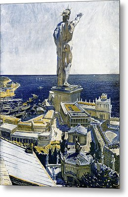 Colossus Of Rhodes Metal Print by Cci Archives