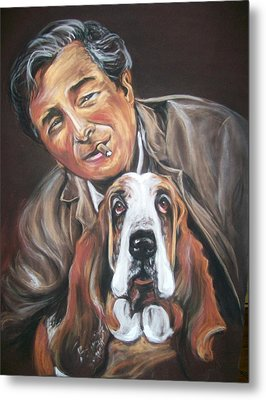 Columbo And Dog Metal Print