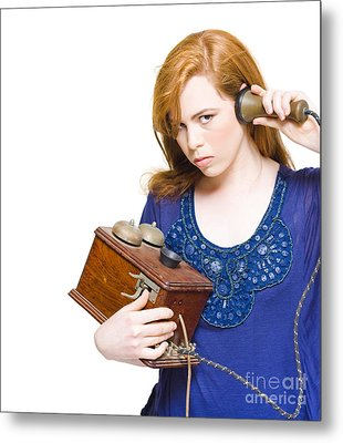 Communication And Technology Problems Metal Print by Jorgo Photography - Wall Art Gallery