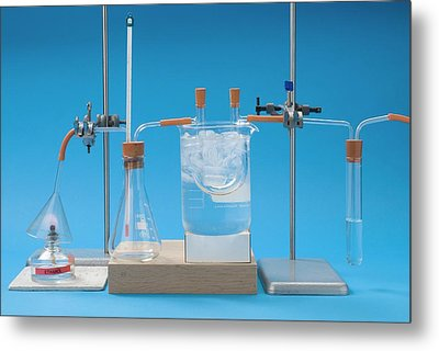 Complete Combustion Experiment Metal Print