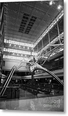 concourse B at Denver International Airport Colorado USA Metal Print by Joe Fox