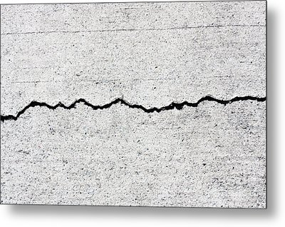 Concrete Cracks Metal Print by Jorgo Photography - Wall Art Gallery