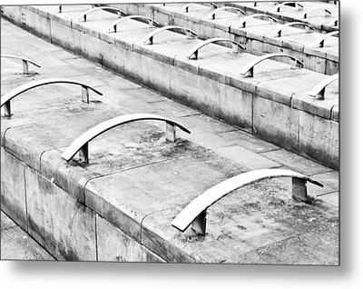 Concrete Seating Metal Print by Tom Gowanlock