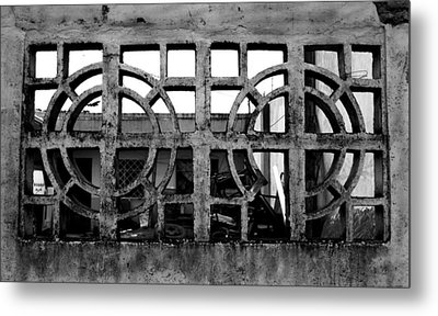 Concrete Window Metal Print by Christopher Lugenbeal