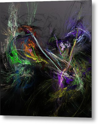 Metal Print featuring the digital art Conflict by David Lane