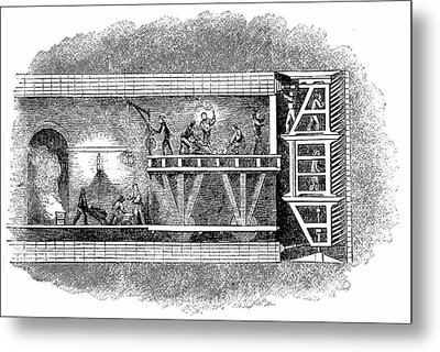 Construction Of Thames Tunnel Metal Print