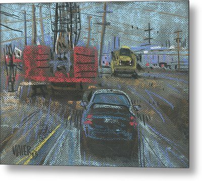 Construction Site Metal Print by Donald Maier