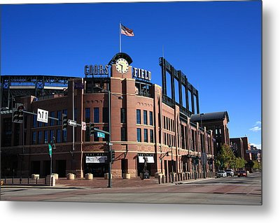 Coors Field - Colorado Rockies Metal Print by Frank Romeo