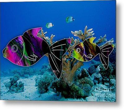 Coral Reef Painting Metal Print by Marvin Blaine
