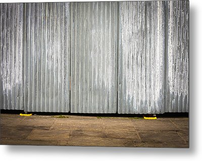 Corrugated Metal Metal Print by Tom Gowanlock