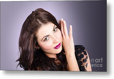 Cosmetic Beauty Portrait. Perfect Makeup Woman Metal Print by Jorgo Photography - Wall Art Gallery