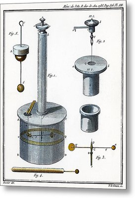 Coulombs Torsion Balance Metal Print by Granger