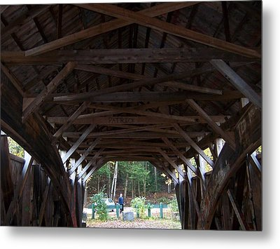 Covered Bridge Metal Print by Catherine Gagne