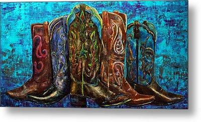 Cowgirl Boots Metal Print by Jennifer Godshalk