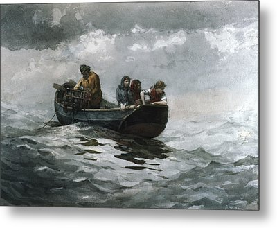 Crab Fishing Metal Print by Celestial Images