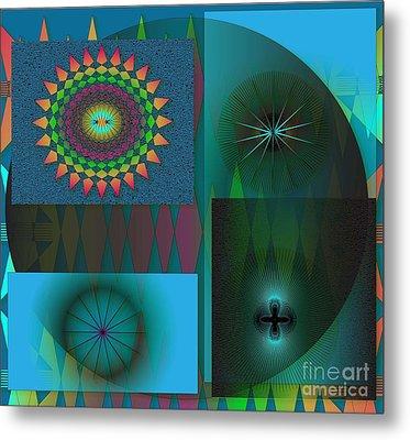 Metal Print featuring the digital art Crazy by Iris Gelbart