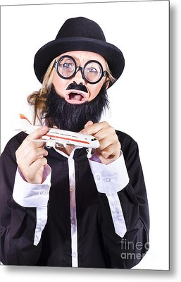 Crazy Terrorist Hijacking Passenger Jet Plane Metal Print by Jorgo Photography - Wall Art Gallery